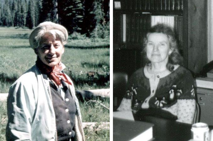 Lucille Vinyard, left, and Susie Van Kirk.