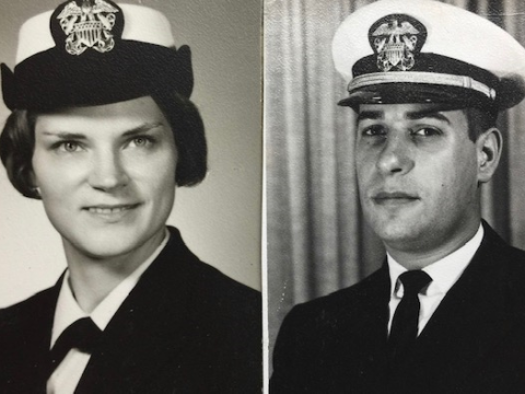 Diana and Michael Berman when they were in the service
