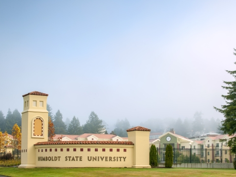 Photo of the South West entrance to Humboldt State.
