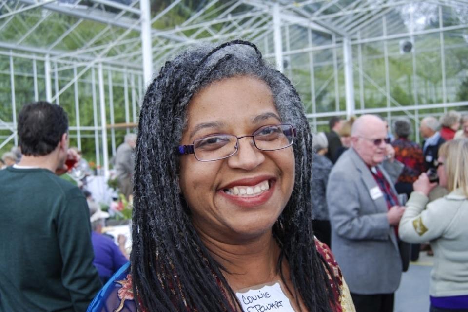 Connie Stewart smiling