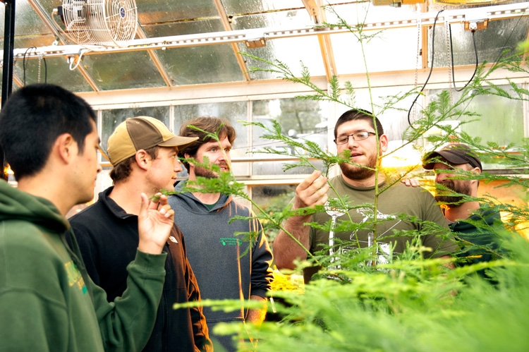 Students in Green House