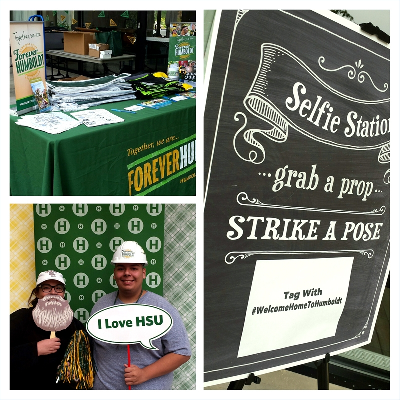 A collage of photos from move-in day in the HSU campus residence halls.